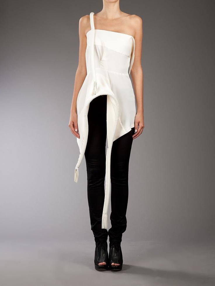 Yohji Yamamoto structure silk top