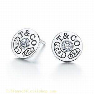 Tiffany Outlet 1837 Circle Earrings Diamonds