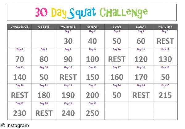 « 30 Days Squat Challenge » : des fesses au top en un mois ! - Elle