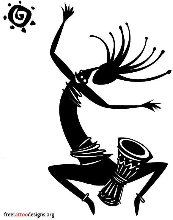 Kokopelli tattoo design