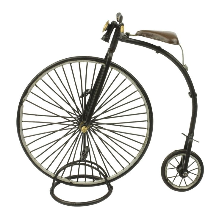 Die Cast Penny Farthing. The Penny Farthing wasn't around for long, yet it's one of the most recognisable symbols of the Victorian age. This die-cast metal model of a bygone era is crafted with a remarkable level of detail and hand painted in vintage style.