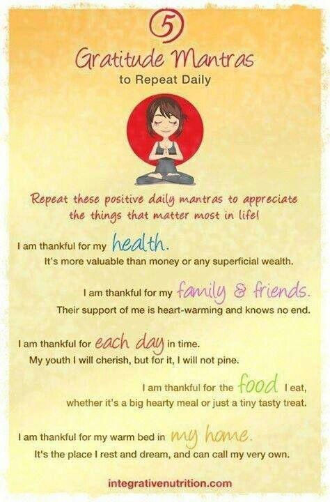 5 Gratitude Mantra