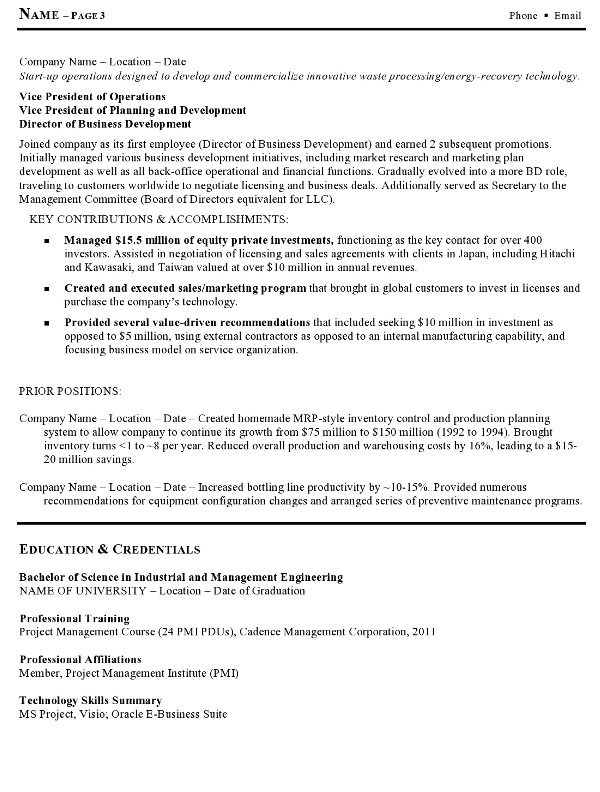 Career Resumes Resume Sample 15 Manufacturing And Operations Executive Resume F3e19534 Resumesample Resum Resume Examples Resume Updating Job Resume Template