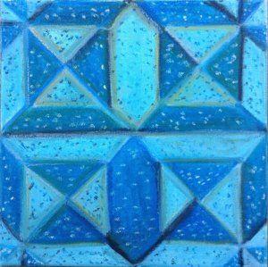 Drawing - Origami Cube Pattern by Regina Jeffers