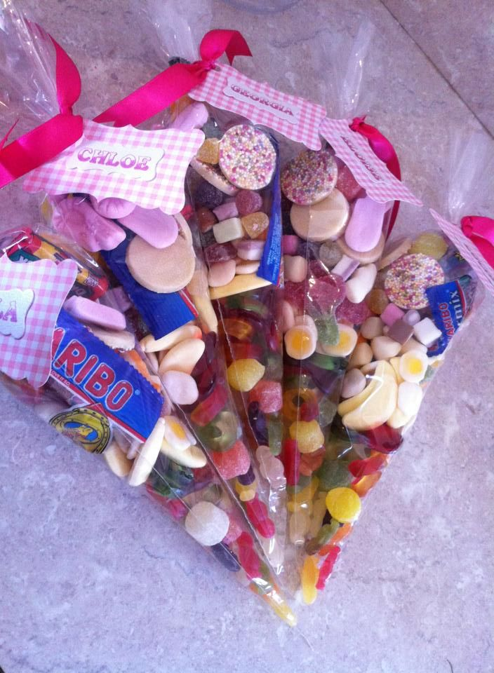 sweet cones for a sleepover