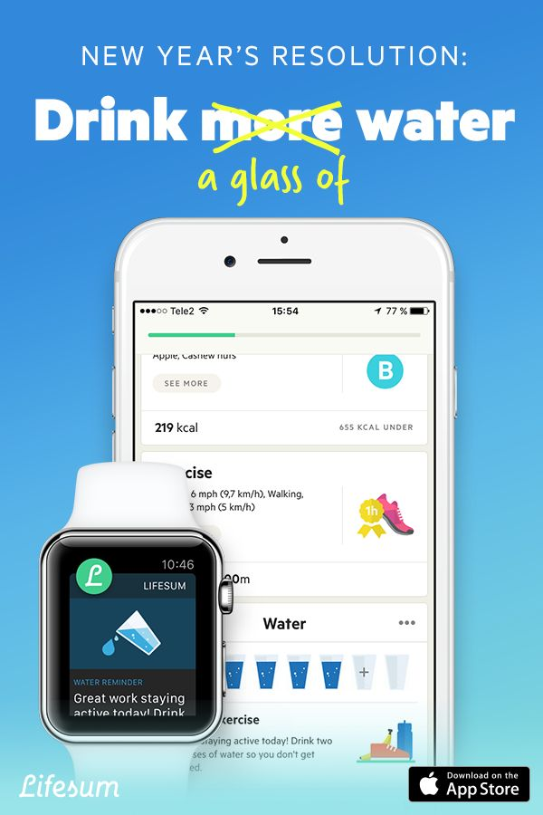 Want to drink more water this new year? Use Lifesum's water tracker to stay hydrated, one glass at a time. Get Lifesum free.