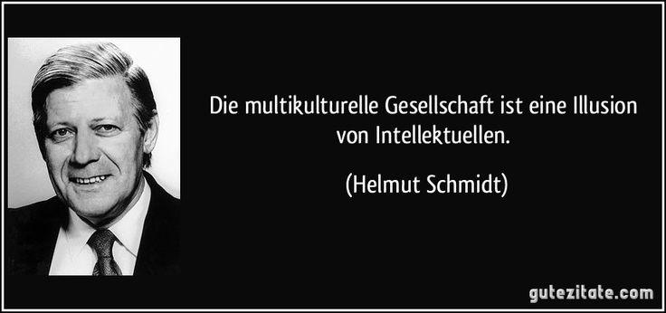 Die multikulturelle Gesellschaft ist eine Illusion von Intellektuellen. (Helmut Schmidt)