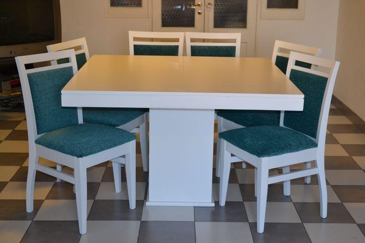 Juego de comedor oregon mesa cuadrada pie central - Mesa de comedor cuadrada ...