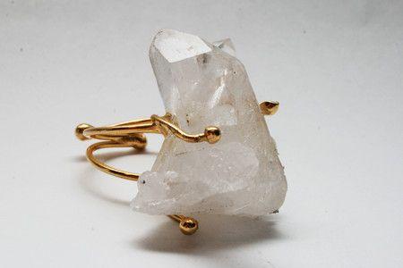 Anel de Cristal Dourado