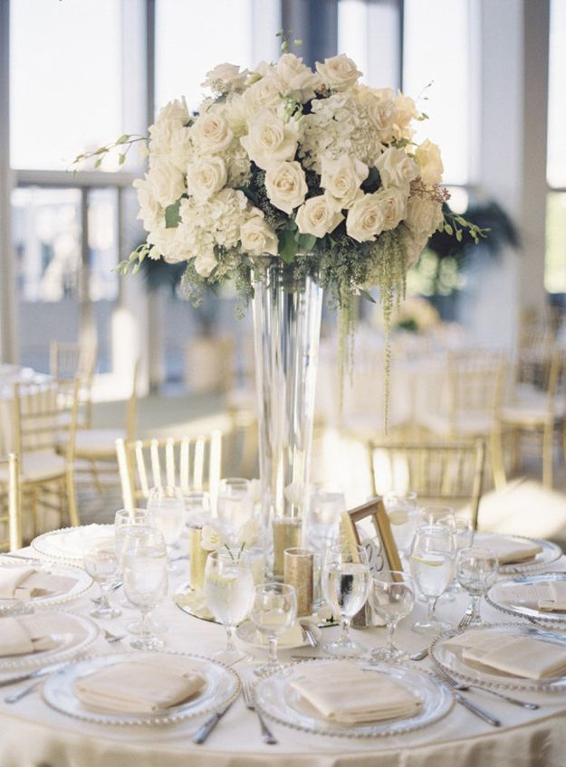 Tall Wedding Centerpieces, Round Table Centerpieces Wedding