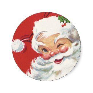 Santa Claus Vintage Christmas Stickers