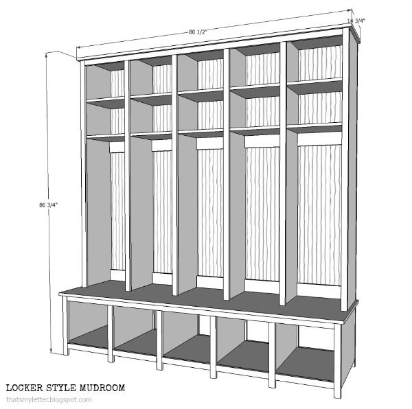 That's My Letter: Locker Style Mudroom: Shoe Cubbies