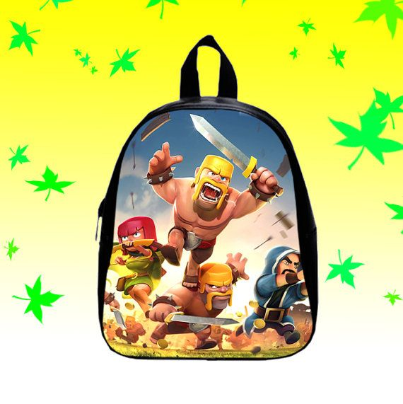 Clash of Clans  Backpack/SchoolBags for Kids. by FACIALBAG on Etsy