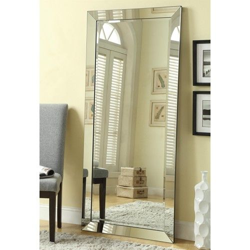 Coaster Accent Mirrors Contemporary Floor Mirror with Mirrored Frame - Coaster Fine Furniture