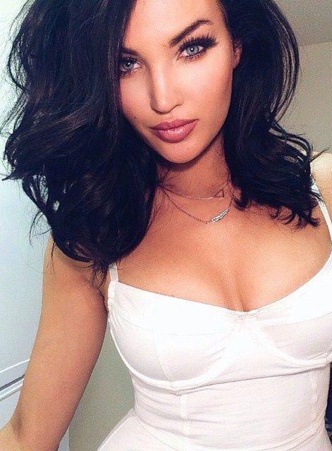 Lashes - Lips - Makeup - Short black hair