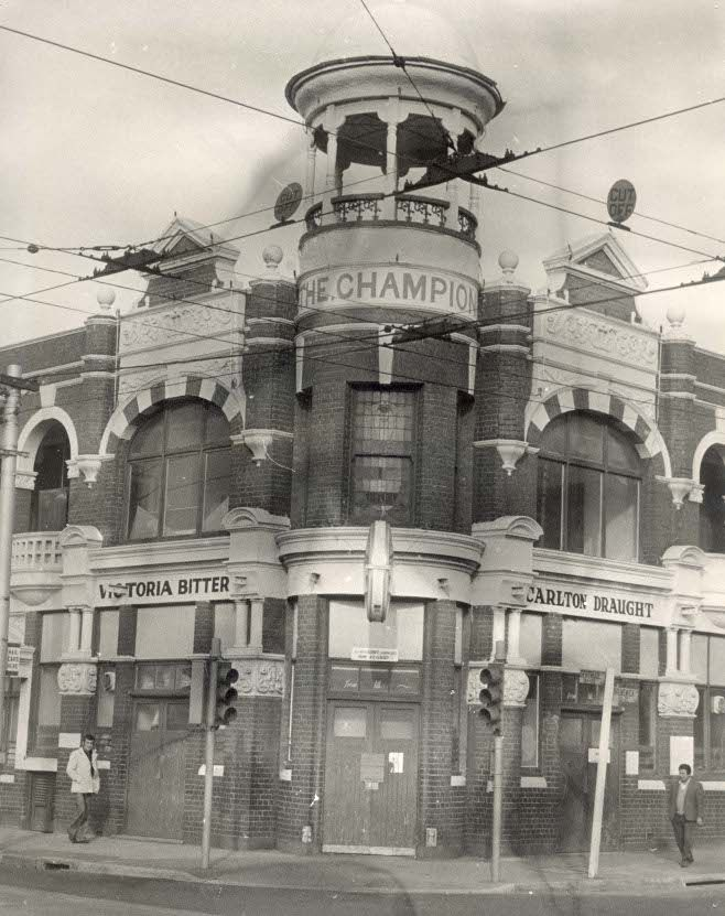 Champion Hotel, S-E Corner of Gertrude and Brunswick Street, Fitzroy