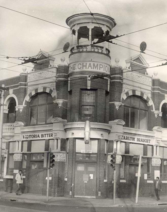 Champion Hotel, S-E Corner of Gertrude and Brunswick Street, Fitzroy