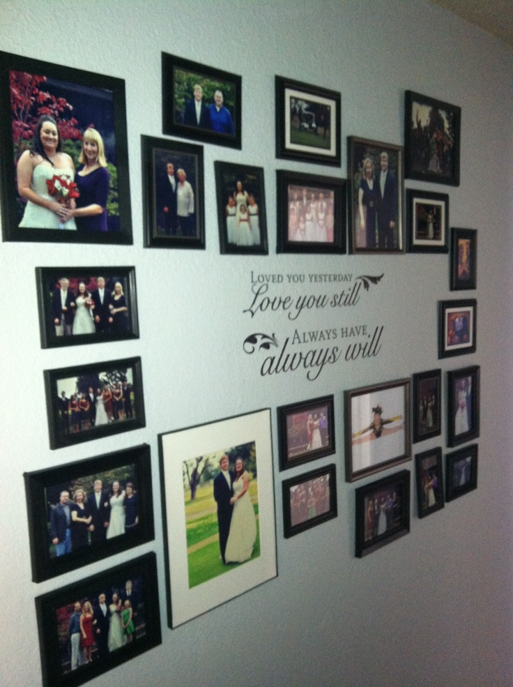 Wedding Photo Collage In Hallway