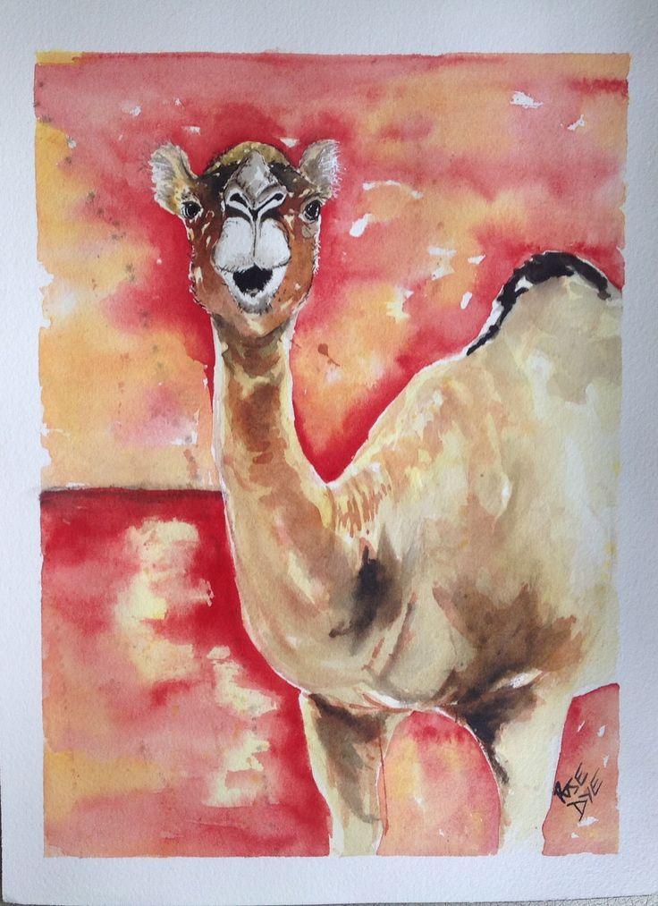 "Camel ""I Love Hump Day"" Watercolour"