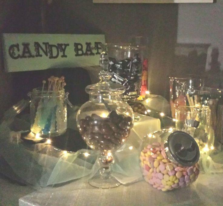 DIY candy bar #wedding