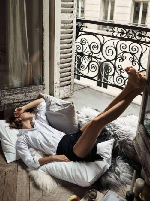 Cocooning sur le balcon.