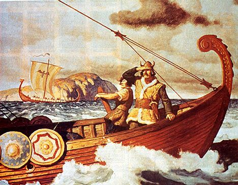 Beautiful depiction of Viking. There were ships for fishing too, and local travel. The decorations of the HUGE ones were both Norse Religious / but happened to frighten the English, when Vikings went to England to Battle for their freedom of Viking Religion and ways. (Information of which, is pretty much destroyed thanks to the eventual Conversion of the King around yr1000.