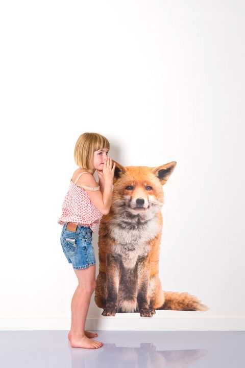WALL*MANIA muursticker   wall decal #fox #sticker