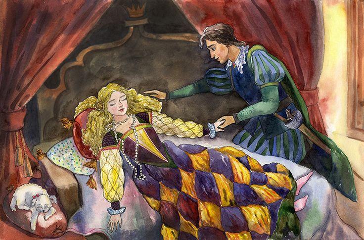 отличается иллюстрации к произведению жуковского спящая царевна медицинской практике его