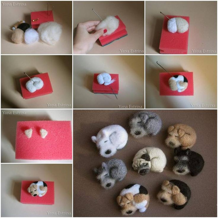 How to make cute little wool dog step by step diy tutorial for Handmade things step by step