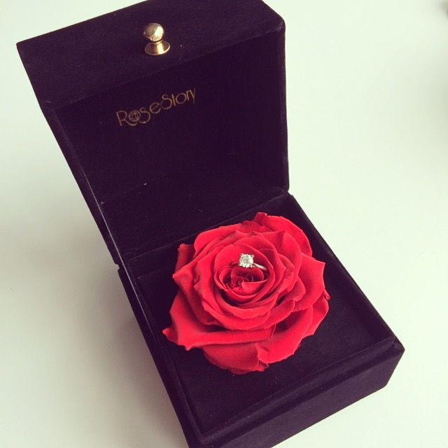 What A Lovely Proposal Idea Preserved Rose Gift Box