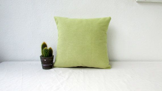 Green cushion cover small pillow cover green by KimsHandmadeCave