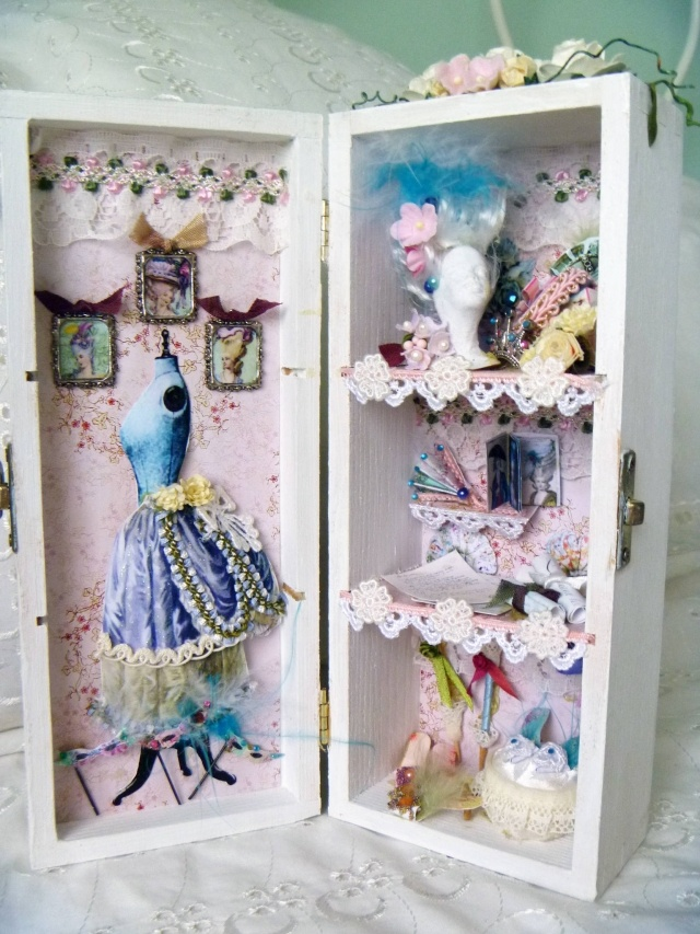 altered art - another old jewelry box but done totally different for a new purpose-love this idea-time to keep my eyes open for a thrift store find