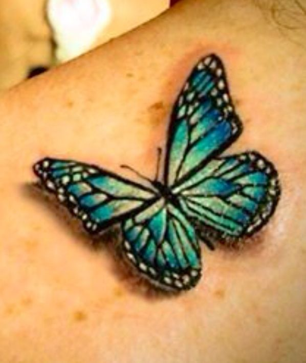 Butterfly tattoo. Love!!! #butterfly #tattoos