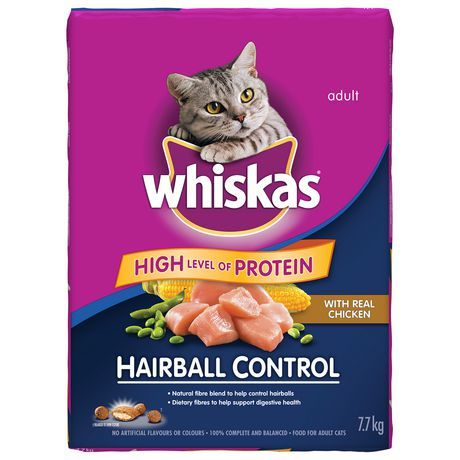 Whiskas Hairball Control With Real Chicken Cat food, Dry
