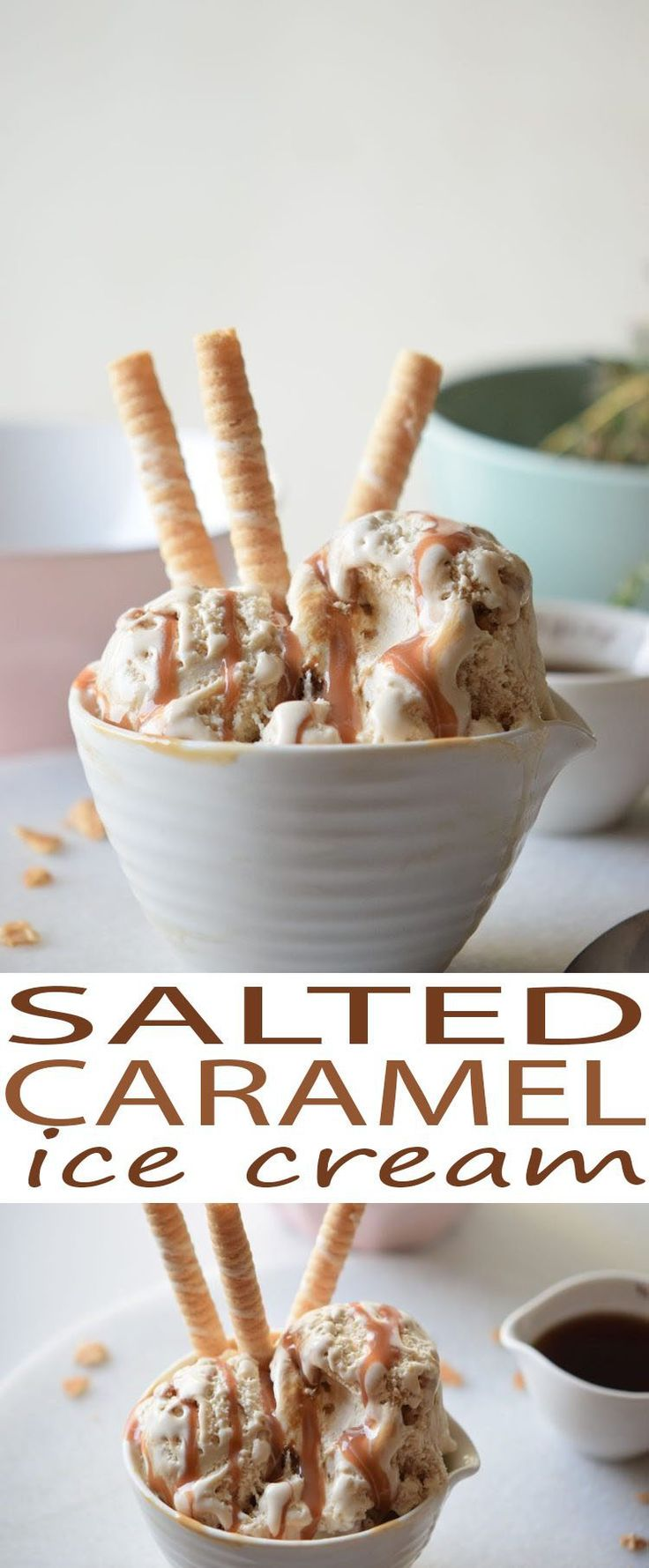 You'll want to try this Salted Caramel Homemade Ice Cream made with coconut milk. Homemade ice cream recipe that is easy to make at home and is easy for kids to help make.