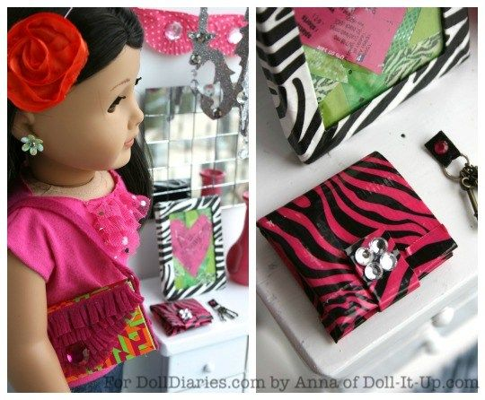 Doll Craft- Duck Tape Wallet | Doll Diaries
