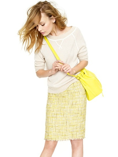 jcrew, tweed spring yellow #DrybarStyle