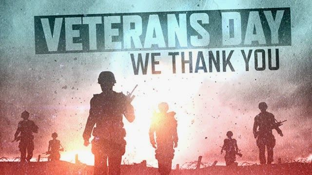 To all who have served this country, we thank you.  Happy Veterans Day