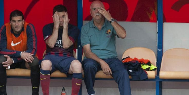 """Barcelona mantuvo el invicto ante Almería pero Messi salió lesionado. Dale un """"Me gusta"""" a Lío para que se recupere pronto. http://www.diarioveloz.com/c105517"""
