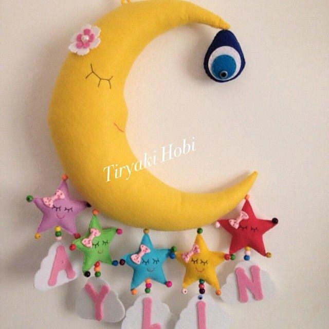 ♥ Tiryaki Hobi ♥: Keçe kapı süsü - aydede (AYLİN)