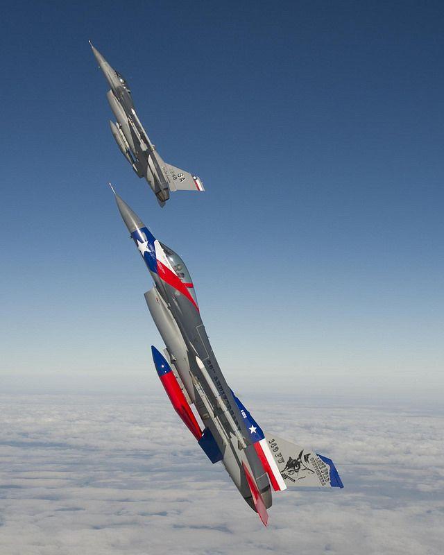 Texas Air National Guard F-16s