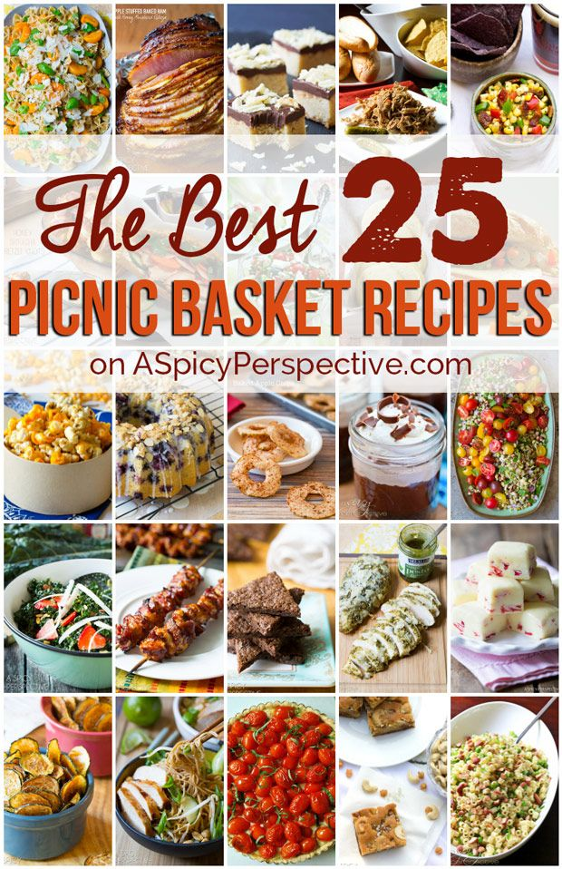 The Best Picnic Recipes! Top 25 recipes to pack your basket this season.