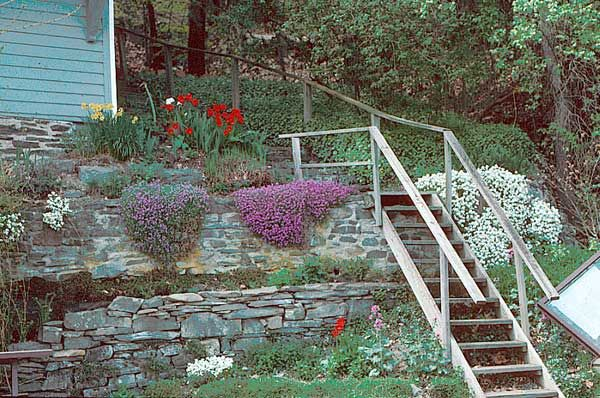 Landscaping a steep bank terracing is often necessary for Garten bank idee