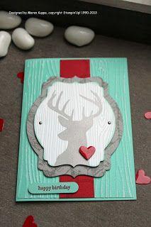 Maren's Stempelseite: Ein Hirsch mit Herz - eine wunderschöne Hirschkarte