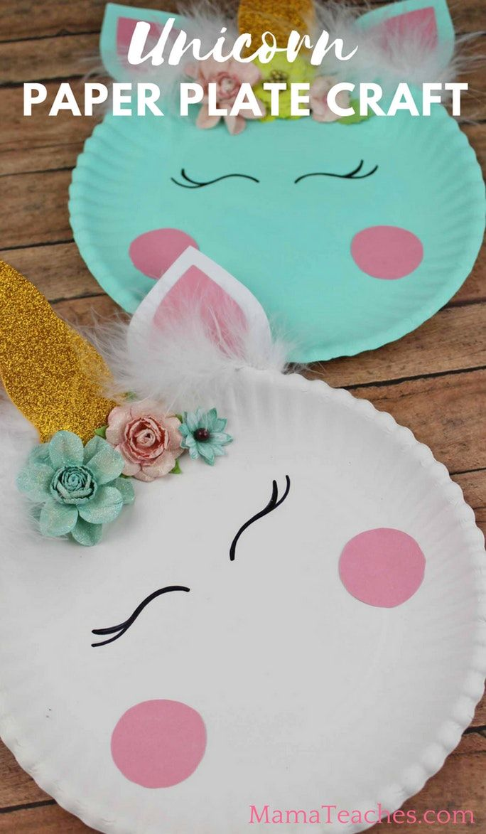 Unicorn Paper Plate Craft With Images Cheap Kids Crafts