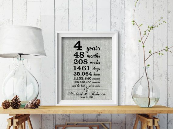 Gift To Husband On Wedding Anniversary: 17 Best Ideas About 4th Anniversary Gifts On Pinterest