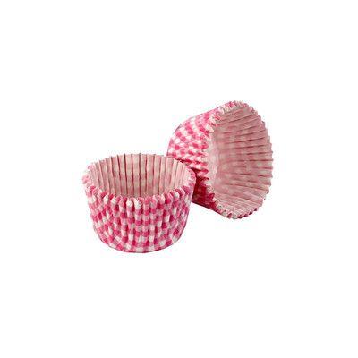 Papilotki 5 cm 32 szt. Tala różowa kratka. Więcej znajdziesz na mykitchen.pl #kuchnia #homedecor #retro