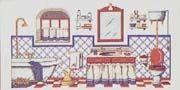 Schemi punto croce a tema bagno