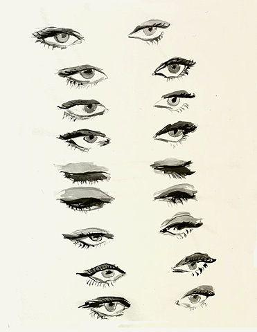 : Sketch, Inspiration, Drawing Eyes, Makeup, Art, Illustration, Draw Eyes