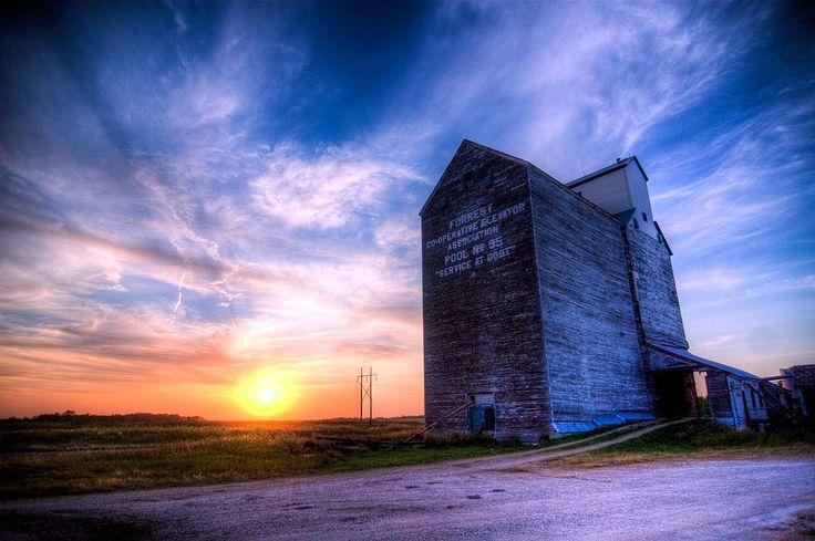 Forgotten Giants by Jason Teale, via 500px. Grain Elevator near Brandon, Manitoba, Canada